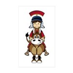 Roman Soldier Riding Horse Sticker (10 Pk)