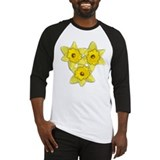 Yellow daffodil Baseball Jersey