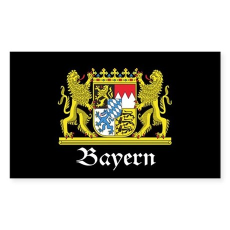 Black Bayern Sticker (Rectangle)