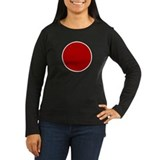 Japanese Flag Women's Long Sleeve T-Shirt (Dark)