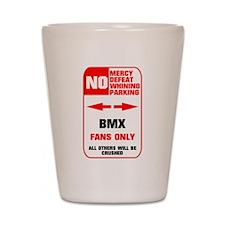 NO PARKING BMX Sign Shot Glass