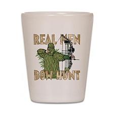 Real Men Bow Hunt Shot Glass