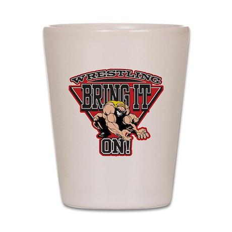 Wrestling Bring It On Shot Glass