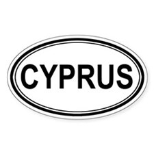 Cyprus Euro Oval Decal