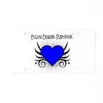 Colon Cancer Survivor Aluminum License Plate