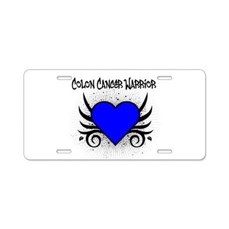 Colon Cancer Warrior Aluminum License Plate
