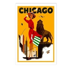 Vintage Chicago Travel Postcards (Package of 8)