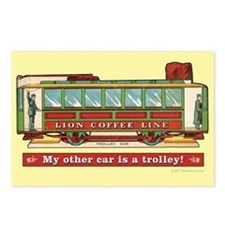 Trolley Car Postcards (Package of 8)