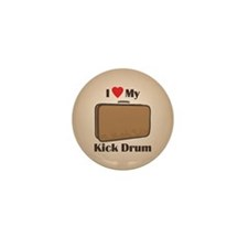 Suitcase Drum Love Mini Button (100 pack)