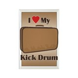 Suitcase Drum Love Rectangle Magnet (100 pack)