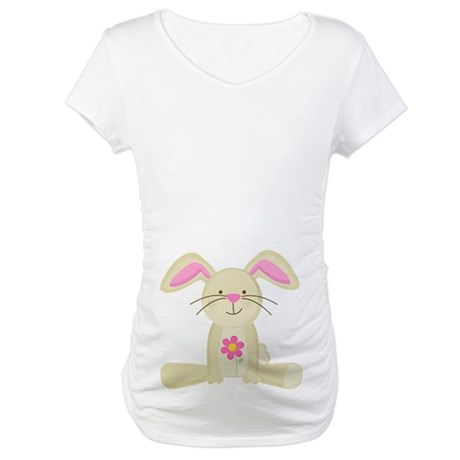 Easter Bunny Belly Print Maternity Tee Shirt