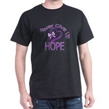 Cystic Fibrosis Never Give Up T-Shirt