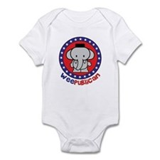 Cute Weepublican Infant Creeper