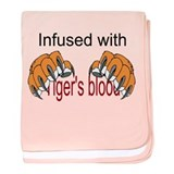 Tiger's Blood baby blanket