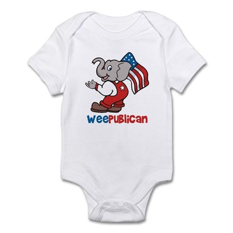 Weepublican &amp;amp; Flag Infant Creeper