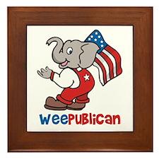 Weepublican and Flag Framed Tile