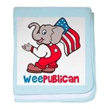 Weepublican and Flag baby blanket