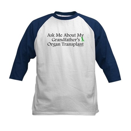 Ask Me Grandpa Trans Kids Baseball Jersey