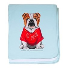 Team Bulldog baby blanket