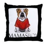 Mamas Boy Bulldog Throw Pillow