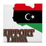 Support Libya 2011 Tile Coaster