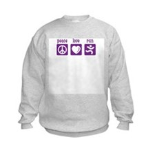 Peace/Love/Run Sweatshirt