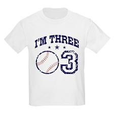 Three Year Old Baseball T-Shirt