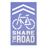 BLUE Sharrow Share the Road - Decal