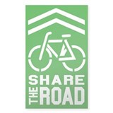 GREEN Sharrow Share the Road -  Aufkleber