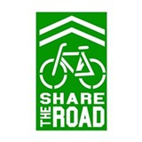 GREEN Sharrow Share the Road - Decal