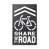 BLACKTOP Sharrow Share the Road -  Aufkleber