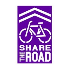 PURPLE Sharrow Share the Road - Decal