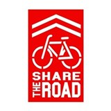 RED Sharrow Share the Road -  Aufkleber