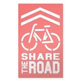 RED Sharrow Share the Road - Decal
