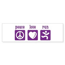 Peace/Love/Run Bumper Sticker
