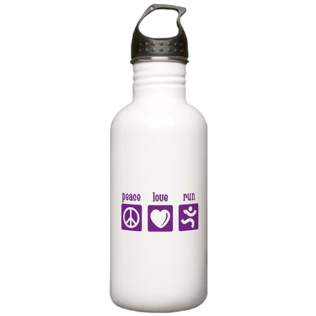 Peace/Love/Run Stainless Water Bottle 1.0L