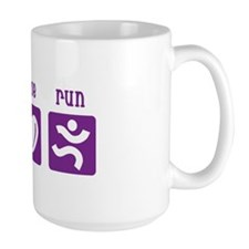 Peace/Love/Run Mug