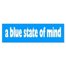blue state of mind... Bumper Bumper Sticker