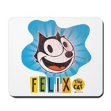 Felix Blue Swirl Mousepad