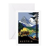 Austria Band Travel Greeting Cards (Pk of 10)