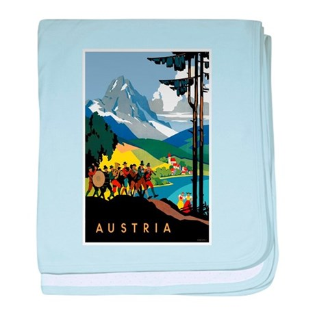 Austria Band Travel baby blanket