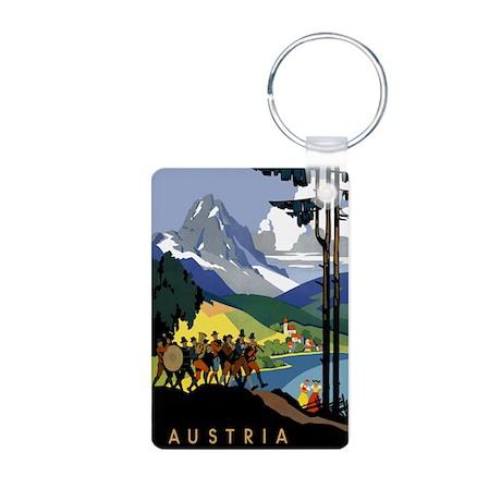 Austria Band Travel Aluminum Photo Keychain