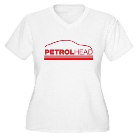 petrol head Women's Plus Size V-Neck T-Shirt