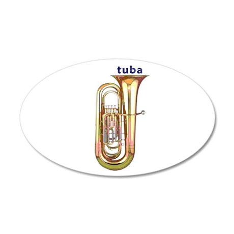 Tuba 22x14 Oval Wall Peel