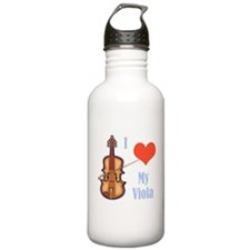 I Love My Viola Water Bottle