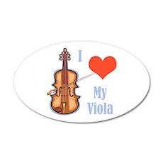 I Love My Viola 22x14 Oval Wall Peel