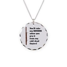 Bassoon Necklace Circle Charm