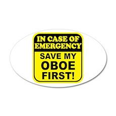Save My Oboe 38.5 x 24.5 Oval Wall Peel