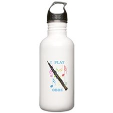 I Play Oboe Water Bottle