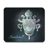 Silver Benedict Coat of Arms : Mousepad